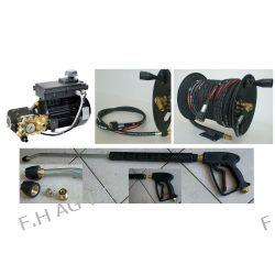 Pomposilnik-myjka 150 BAR- 15 Litr/min+wąż 400 BAR-40metr.+bęben+pistolet z lancą Narzędzia
