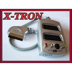 [X-TRON]Rozgałęźnik SCART  2xSCART 3R SVHS DIGITAL