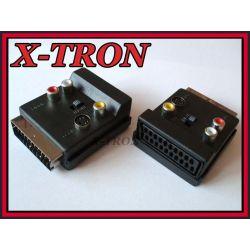 [X-TRON]Rozgałęźnik WT SCART 1xGN SCART 3RCA SVHS