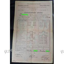 Zawiadomienie szkolne XLVII Szkoła powszechna żeńska im. A Jagiellonki Kraków 1926 Antyki i Sztuka