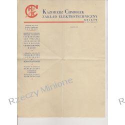 Kazimierz Chmiołek - papier firmowy Kraków lata 30 Antyki i Sztuka