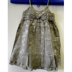 Wójcik W532 Srebrna Kokarda  sukienka 110 cm