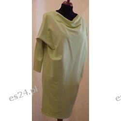 Sukienka dresowa rozmiar 42/44 żółta