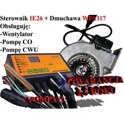 Sterownik kotła pieca IE26 CWU + Dmuchawa WPA117