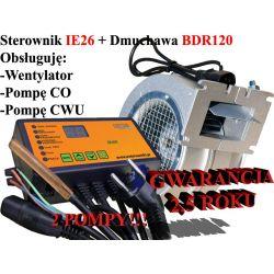 Sterownik kotła pieca IE26 CWU + Dmuchawa BDR120