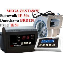 Sterownik kotła IE30z PID+Panel IE50+DmuchawaBD120
