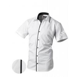 Koszula Męska  VICTORIO Biała Krótki Rękaw S 37/38