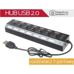 HUB USB 2.0 rozdzielacz 7-portowy