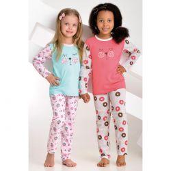 Piżama dla dziewczynki 037D miś