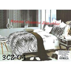 Pościel 3D 160x200 Czarno Biała BAWEŁNA 100%