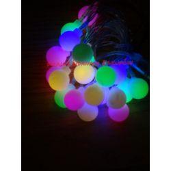 LAMPKI CHOINKOWE LED NA BATERIE MULTIKOLOR BIAŁY