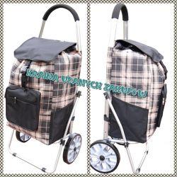 Wózek na Zakupy Aluminiowy na kółkach z łożyskami
