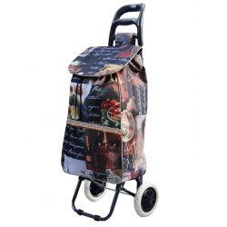 Wózek na Zakupy na kółkach 50 litrów 27 WZORÓW