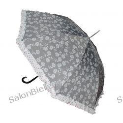 LL KULIK parasolka damska z falbanką automat laska Szlafroki