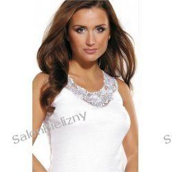 270 VIOLANA koszulka ANNA z gipiurą biała S Komplety