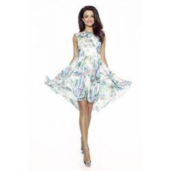 Lekka sukienka szyfonowa __ 42 XL