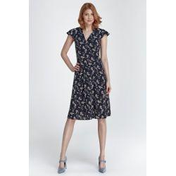NIF S86-1 letnia sukienka kwiaty __ 42 XL