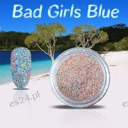 Bad Girls Blue - niegrzeczny efekt na paznokciach Zdrowie i Uroda