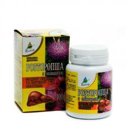 OSTROPEST Z JEŻÓWKĄ PURPUROWĄ (Echinacea purpurea), 100 tab. - WĄTROBA, DROGI ŻÓŁCIOWE