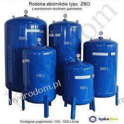 Zbiornik ZB0 S 150 PION hydrofor z wymiennym workiem gumowym GRUDZIADZ  Piece wolnostojące