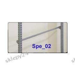 Poprzeczka prosta - srebro - 120 cm