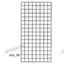 Krata Sklepowa 140x80 cm - srebrna