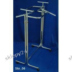 STOJAK DWUSTRONNY L - 100/góra z owalu/podpora na półkę srebrny