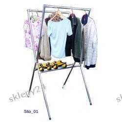Podwójny stojak odzieżowy