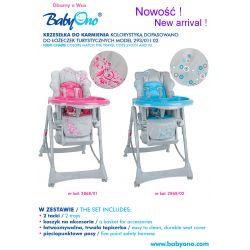 BabyOno krzesełko do karmienia 2868/01 róż