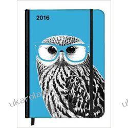 Kalendarz Notatnik Sowa SoftTouch Diary Nerdy Owl 2016: eine Woche auf zwei Seiten z sową