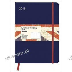 Kalendarz Notatnik 2016 Blue | Union Jack 16 x 22 Cool Diary niebieski organizer flaga Wielkiej Brytanii