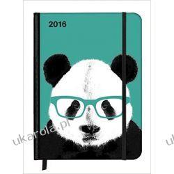 Kalendarz Notatnik 2016 Nerdy Panda 16 x 22 SoftTouch Diary Organizer z pandą