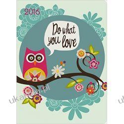 Kalendarz 2016 Valentina GreenLine 16 x 22 Diary Sowa sowy Notes z sową sówka notatnik organizer