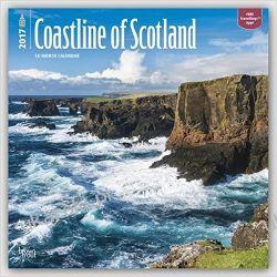 Kalendarz Coastline of Scotland 2017 Square Wall Calendar Szkocja Wybrzeże Szkocji