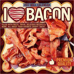 Kalendarz Bekon I Love Bacon 2017 Square Wall Calendar