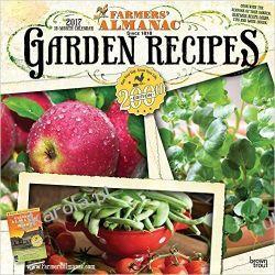 Kalendarz Farmers' Almanac Garden Recipes 2017 Wall Calendar