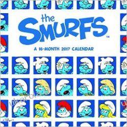Kalendarz Smerfy The Smurfs 2017 Calendar Smurfy Książki i Komiksy