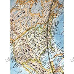 Kalendarz książkowy 2018 World Maps Large Magneto Diary 16 x 22 cm MAPY Calendar