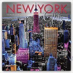 Kalendarz Nowy Jork New York Glitz 2018 Wall Calendar