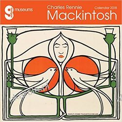 Kalendarz Glasgow Museums - Charles Rennie Mackintosh Wall Calendar 2018