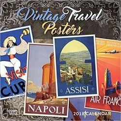 Kalendarz Vintage Travel Posters 2018 Wall Calendar Kalendarze książkowe