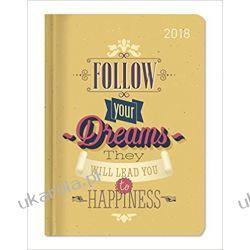 Kalendarz książkowy Ladytimer Happiness 2018 Cytat Diary Książki i Komiksy