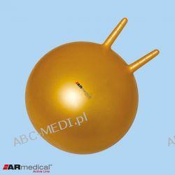 Piłka rehabilitacyjna HOPPER z rogami 55 CM -KOLOR SREBRNY