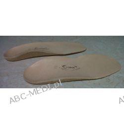 WKŁADKI ORTOPEDYCZNE SUPINUJĄCE (SKÓRZANE) na płaskostopie podłużne 14-30 cm