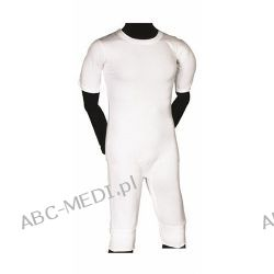 Bodystocking - bawełniane śpiochy dla dorosłych z nogawkami, krótkim rękawem i zapięciem w kroku Odzież i bielizna męska