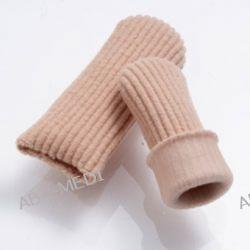 Tuba elastyczna silikonowa pokryta miękką tkaniną na palec - 25 mm  /M/ Zdrowie, medycyna