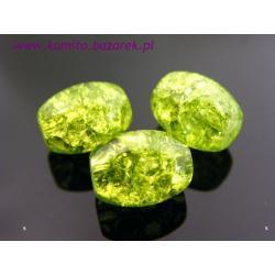 Koraliki zielone beczułki 11 mm