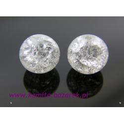 Koraliki białe crackle 10 mm,10szt
