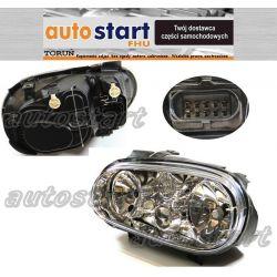 REFLEKTOR LAMPA PR L PRZÓD VW GOLF IV H1 + H3 +H7