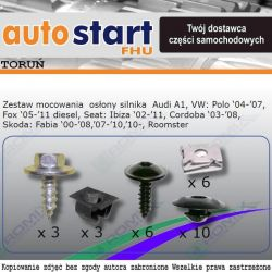 SPINKI MONTAŻOWE OSŁONY VW FOX 5Z1 POLO 9N